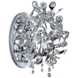 "Comet Collection 1-Light 10"" Polished Chrome Wall Sconce with Beveled Crystal 24202BCPC"