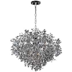 "Comet Collection 13-Light 39"" Polished Chrome Pendant Chandelier with Beveled Crystal 24207BCPC"