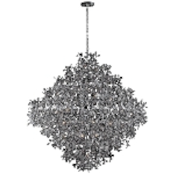 "Comet Collection 21-Light 52"" Polished Chrome Pendant Chandelier with Beveled Crystal 24209BCPC"