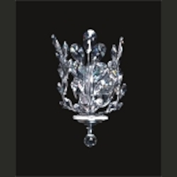 "Branch of Light Design 1-Light 11"" Chrome Wall Sconce with Clear European or Swarovski Crystals SKU# 10643"