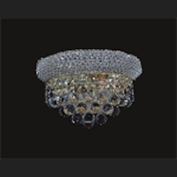Bagel Design 2-Light 12'' Gold or Chrome Wall Sconce Light Fixture Dressed with European or Swarovski Crystal  SKU# 10141