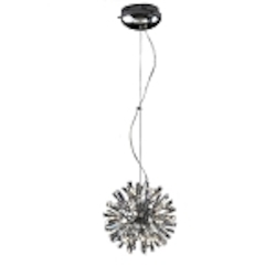 "Stellate Design 15-Light 12"" Polished Chrome Crystal Pendant SKU# 10781"