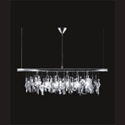 "New York City Design 6-Light 30"" Linear Pendant with Clear European Crystal SKU# 10665"