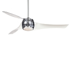 Translucent 3 Blade 58In. Ceiling Fan - Light, Wall Control And Blades Included