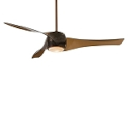 Copper Bronze 3 Blade 58In. Ceiling Fan - Light, Wall Control And Blades Included