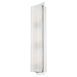 "Clarté Collection 3-Light 21"" Chrome Wall Sconce with White Iris Glass 4393-77"