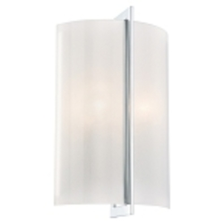 "Clarté Collection 2-Light 14"" Chrome Wall Sconce with White Iris Glass 6390-77"
