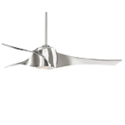"Artemis 58"" Liquid Nickel Ceiling Fan with Etched Opal Glass F803-LN"