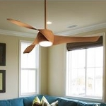 Maple 3 Blade 58In. Ceiling Fan - Light, Wall Control And Blades Included