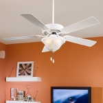 White Contractor 52In. 4 Or 5 Blade Indoor Ceiling Fan With Blades And Light Kit Included