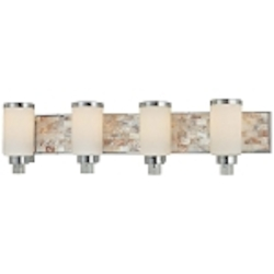 Cashelmara Design 4-Light 34'' Natural Mosaic Shell Bath Light 3244-77