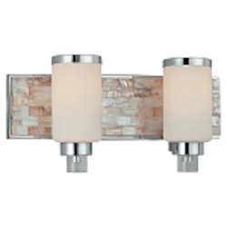 Cashelmara Design 2-Light 17'' Natural Mosaic Shell Bath Light 3242-77