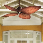 Oil Rubbed Bronze 4 Blade 52In. Indoor / Outdoor Ceiling Fan - Light, Wall Control And Blades Included