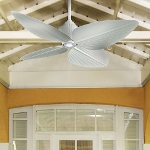 Flat White 4 Blade 52In. Indoor / Outdoor Ceiling Fan - Light, Wall Control And Blades Included