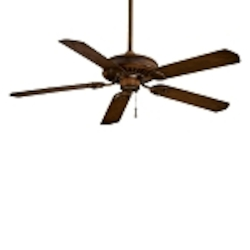 Mossoro Walnut 5 Blade 54In. Indoor / Outdoor Energy Star Ceiling Fan - Blades Included