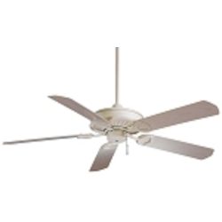 "Sundowner Shell White Indoor or Outdoor 54"" Energy Star Ceiling Fan with Shell White Blades F589-SWH"