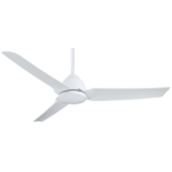 Flat White Java 3 Blade 54In. Indoor / Outdoor Ceiling Fan - Remote And Blades Included