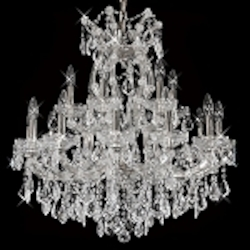 "Maria Theresa 19-Light 30"" Chrome, Gold, Golden Teak, Black, or White Crystal Chandelier with Swarovski or European Crystals SKU# 10408"