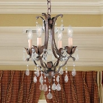 "Maison De Ville Collection 4-Light 18"" British Bronze Crystal Mini Chandelier F1881/4BRB"