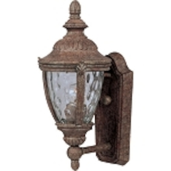 "Morrow Bay 1-Light 14"" Earth Tone Outdoor Wall Light with Water Glass 3183WGET"