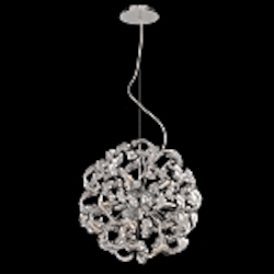 12 Light Crystal Pendant Chandelier Light in Chrome Finish with Crystal Accents - Joshua Marshal 700083-001