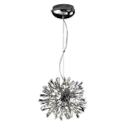 "Stellate Design 24-Light 14"" Polished Chrome Crystal Pendant SKU# 10782"