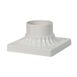 "Outdoor 6"" White Outdoor Pier Mount 25-1205"