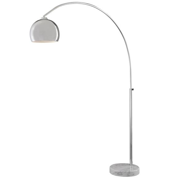 minka george kovacs p053 077 chrome 1 light arc floor lamp from the. Black Bedroom Furniture Sets. Home Design Ideas
