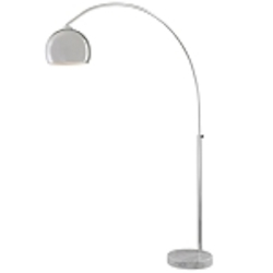 Chrome 1 Light Arc Floor Lamp From The George'S Reading Room Collection