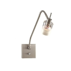 Brushed Nickel 1 Light Gooseneck Wall Sconce from the Pierce Collection
