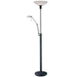 Restoration Bronze 1 Light Torchiere Floor Lamp From The George'S Reading Room Collection