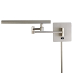 Matte Brushed Nickel 1 Light Plug In Wall Sconce From The Madake Collection