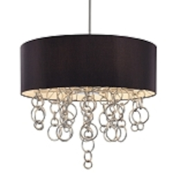 Chrome 8 Light Drum Pendant from the Ringlets Collection