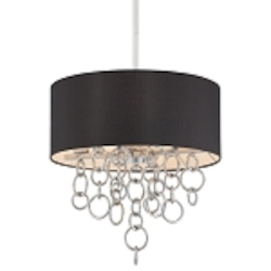 Chrome 4 Light 18In. Height Drum Pendant From The Ringlets Collection