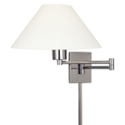 Matte Brushed Nickel 1 Light Plug In Wall Sconce in Matte Brushed Nickel from the Boring Collection