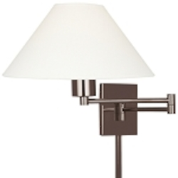 Chocolate Chrome 1 Light Plug In Wall Sconce in Chocolate Chrome from the Boring Collection
