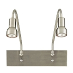 Brushed Nickel 2 Light Plug In Wall Sconce from the Save Your Marriage Collection