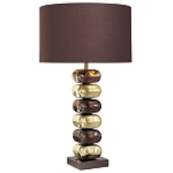 Chocolate Chrome with Brass 1 Light 25.5in. Height Table Lamp from the Decorative Portables Collection
