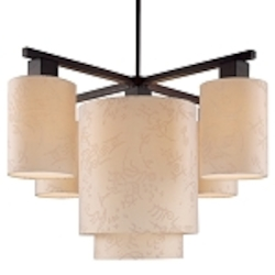 Antique Bronze 5 Light 1 Tier Chandelier From The Kimono Collection