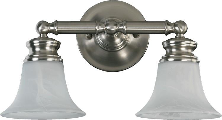 "Satin Nickel Ceiling Lights Bathroom Vanity Chandelier: Madison Family 2-Light 17"" Satin Nickel Bathroom Vanity"