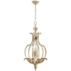 "Florence Collection 4-Light 33"" Persian White Chandelier 6837-4-70"