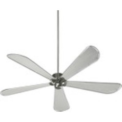 "Dragonfly Patio Family 72"" Satin Nickel Outdoor Ceiling Fan 159725-65"