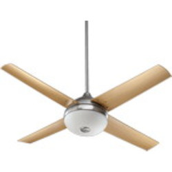 "Orbit Patio Family 52"" Satin Nickel Outdoor Ceiling Fan with Light Kit 18524-65"