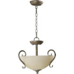 "Powell Family 14"" Mystic Silver Dual Mount Ceiling Light 2808-15-58"