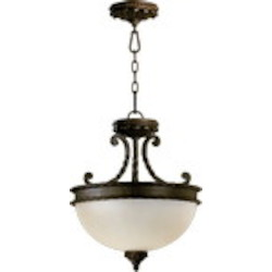 "Alameda Family 2-Light 15"" Oiled Bronze Dual Mount Ceiling Light 2886-15-86"