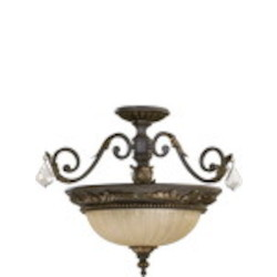 "Rio Salado Family 20"" Toasted Sienna With Mystic Silver Dual Mount Ceiling Light 2957-21-44"