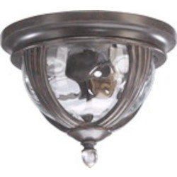 Sloane Family 2-Light Baltic Granite Outdoor Flush Mount 3221-10-45