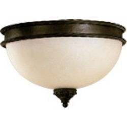 "Alameda Family 3-Light 15"" Oiled Bronze Flush Mount 3486-15-86"