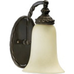 "Alameda Series 1-Light 9"" Oiled Bronze Wall Sconce 5286-1-86"