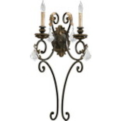 Rio Salado Family 2-Light Toasted Sienna With Mystic Silver Wall Sconce 5357-2-44